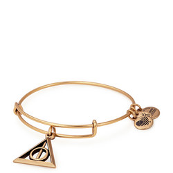 Harry Potter Deathly Hallows Charm Bangle Gold