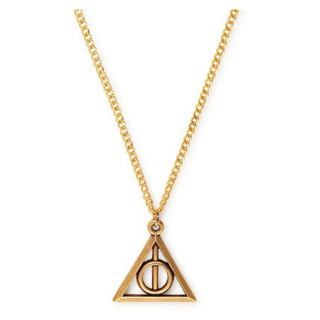 Harry Potter Deathly Hallows Necklace Gold