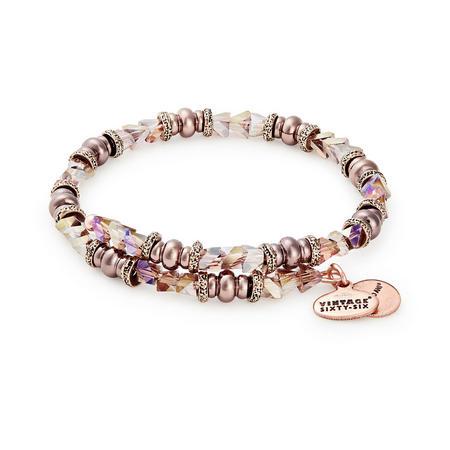 Metallic Burgundy Glimmer Wrap Bracelet