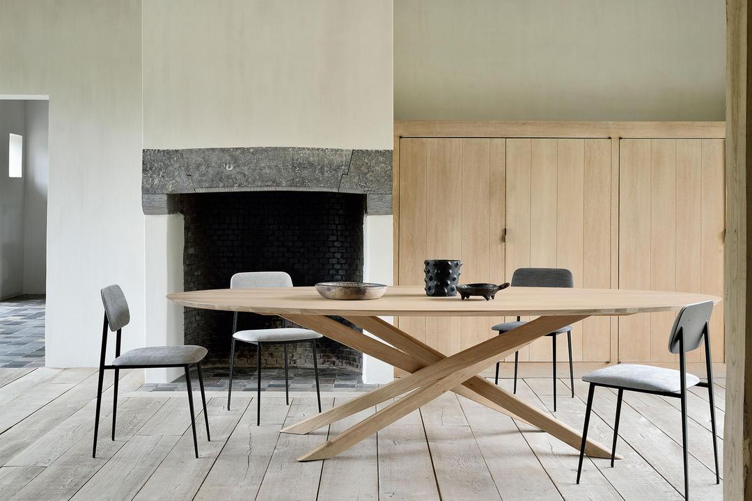 Mikado Oval Dining Table, Oak Finish 50181