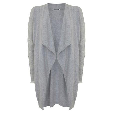 Silver Grey Star Sleeve Cardigan Grey