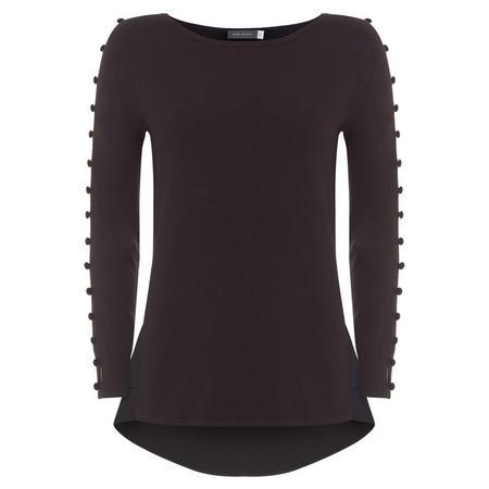 Black Velvet Button Knit Black