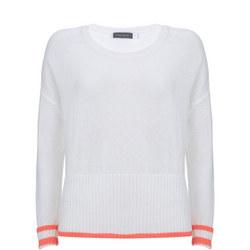 Ivory & Neon Orange Knit
