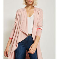 Nude Colour-Block Cardigan