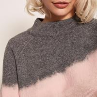 Granite & Pink Intarsia Knit