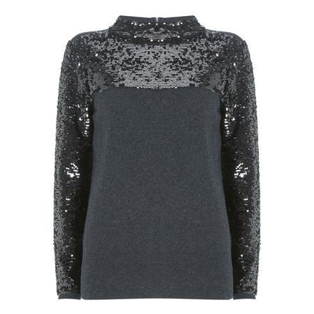 Sequin High Neck Sweater
