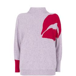 Lips Batwing Sweater