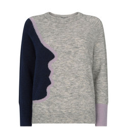 Abstract Face Sweater