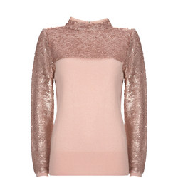 Sequin Roll Neck Sweater