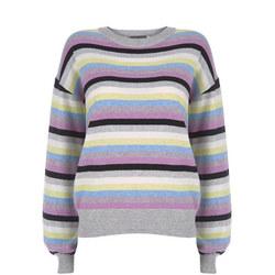 Multi Striped Balloon Sweater