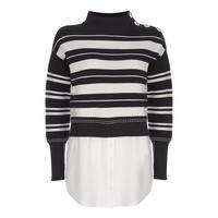 Striped Ottoman Layered Sweater