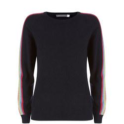 Navy Rainbow Stripe Sweater