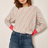 Diagonal Stripe Sweater