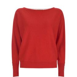 Stripe Back Batwing Sweater