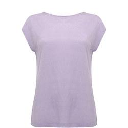 Lilac Cross Back Linen Tee Purple
