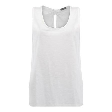 Ivory Knot Back Vest White