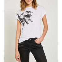 Ivory Butterfly Sequined Tee