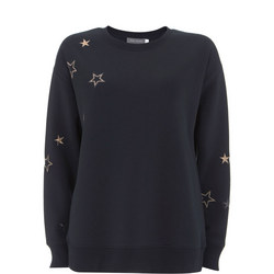 Ink Embroidered Star Sweat