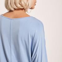 Sky Blue Modal Batwing T-Shirt