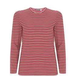 Cherry & Ivory Striped T-Shirt