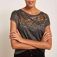 Speckled Foil Print T-Shirt