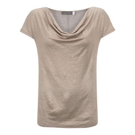 Shimmer Cowl Neck T-Shirt
