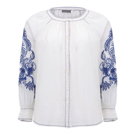 Embroidered Blouse White