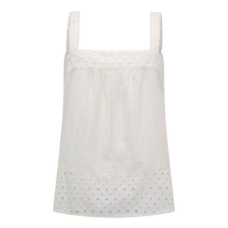 Broderie Anglaise Cami White