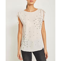 Nude Star Sequined Top