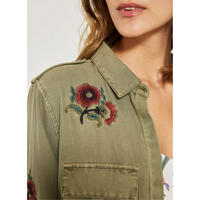 Floral Embroidered Shacket