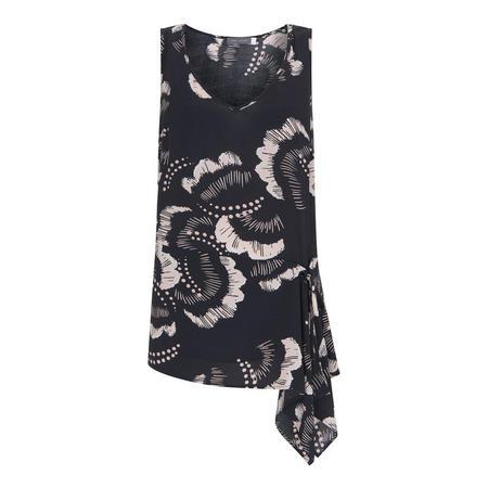 Grace Print Tie-Front Cami
