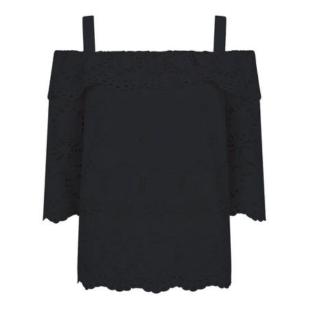 Black Off-The-Shoulder Top