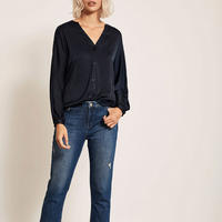 Satin Batwing Blouse