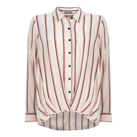 Pink Hem Tuck Hem Shirt