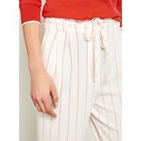 Striped Paperbag Trouser White