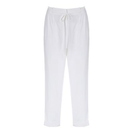 Ivory Paperbag Trouser White