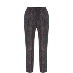 Lucy Snake Print Capri Trousers