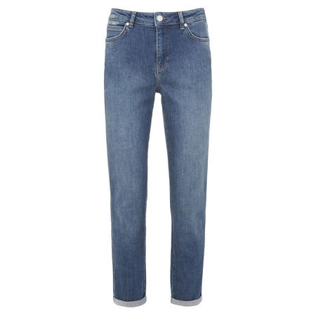 Roseville Authentic Indigo Relaxed Skinny Jeans Blue