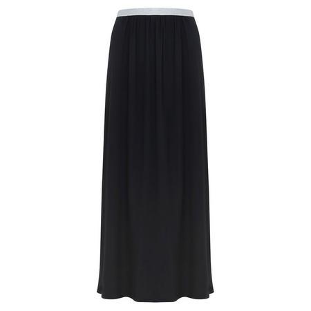 Black Maxi Chiffon Skirt Black