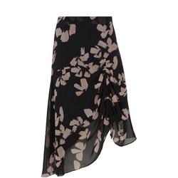 Jessica Print Crepe Skirt