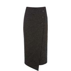 Leopard Jacquard Skirt
