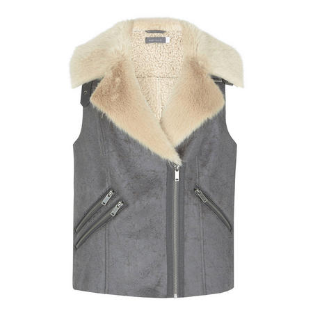Cracked Suedette Gilet