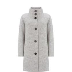 Funnel Neck Textured Coat