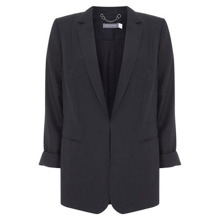 Black Easy Boyfriend Blazer Black