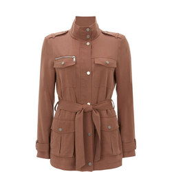 Belted Four-Pocket Jacket