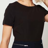 Crepe & Wool Mix Dress Black