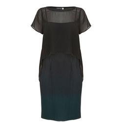 Ombre Cape Dress Multicolour