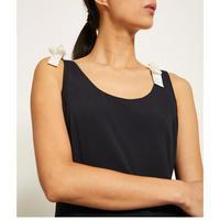 Ink Tie-Shoulder Cocoon Dress Blue