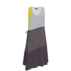 Colour Blocked Trapeze Dress