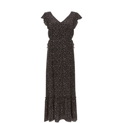 Spot Ruffled Maxi Dress